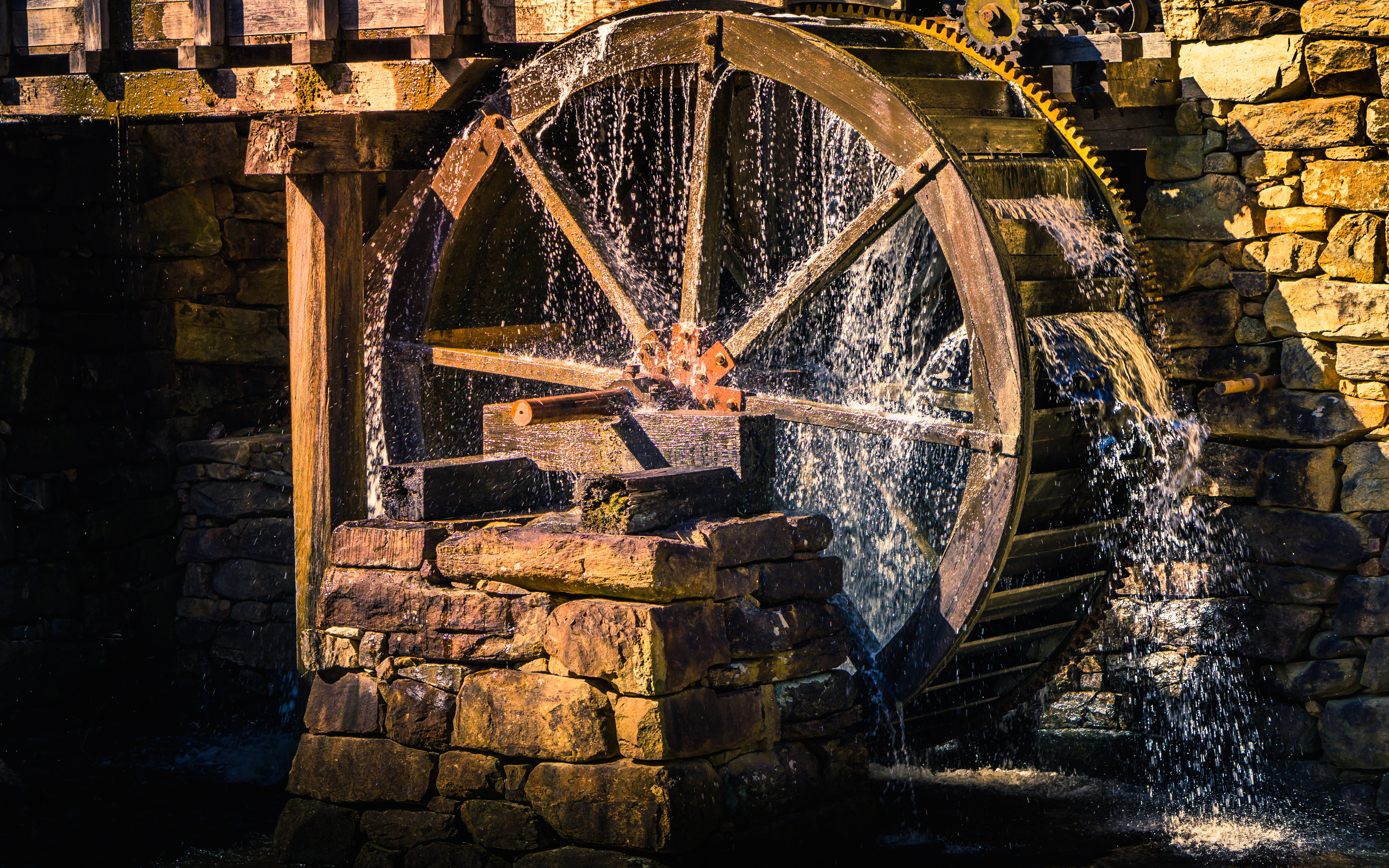 Douglas Antionne Gartrell by Shutterstock, a working watermill presenting automation