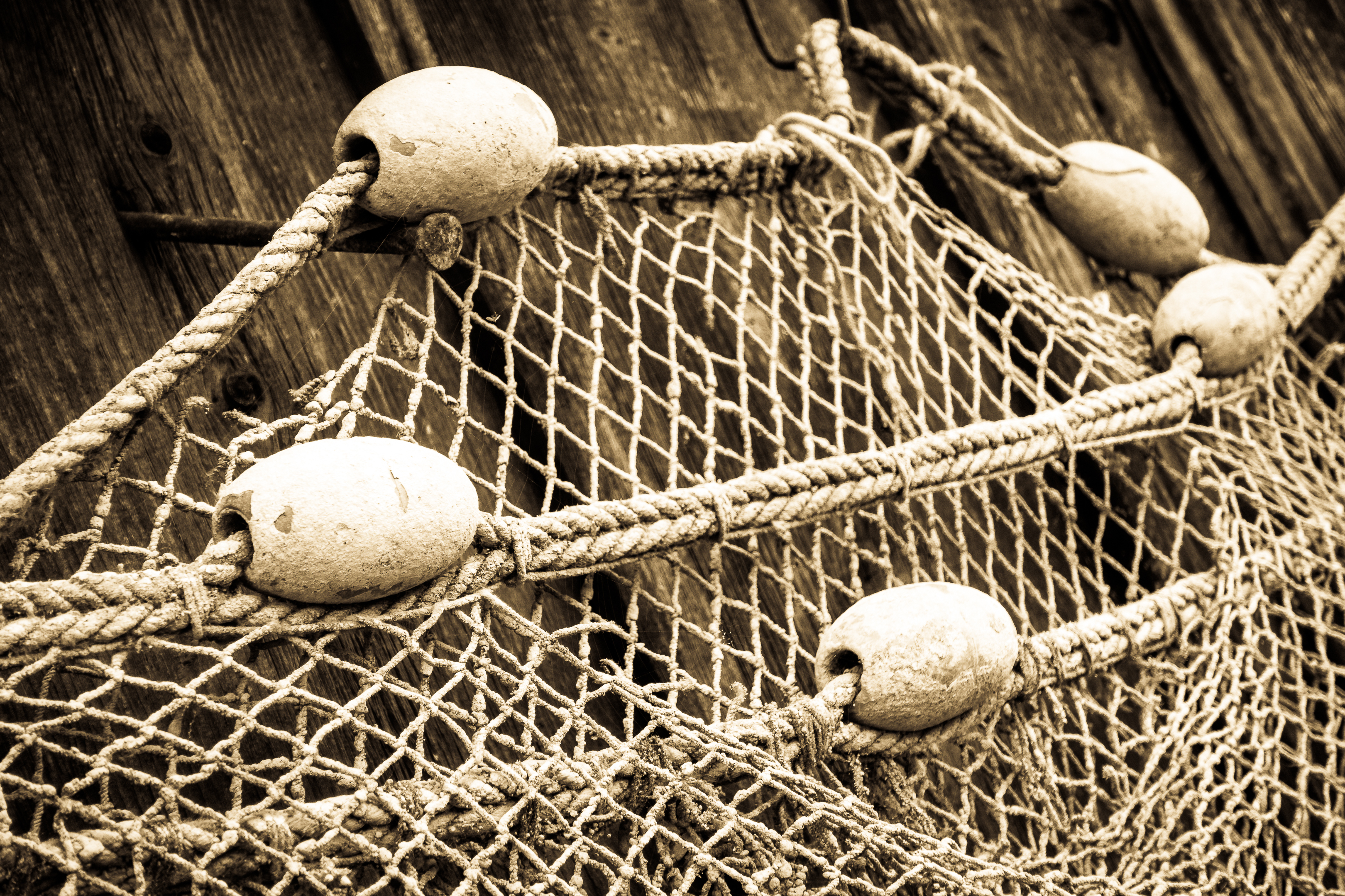 FooTToo by Shutterstock netting, an old fashioned fisherman's net