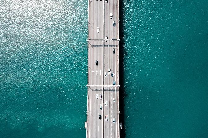 Mo Aziz by shutterstock.jpg an aerial view of a bridge